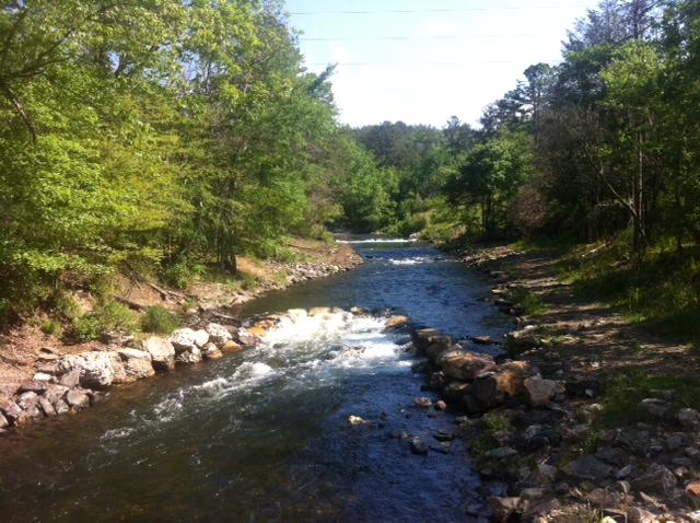 Lower Mountain Fork River in McCurtain County Southeastern Oklahoma.