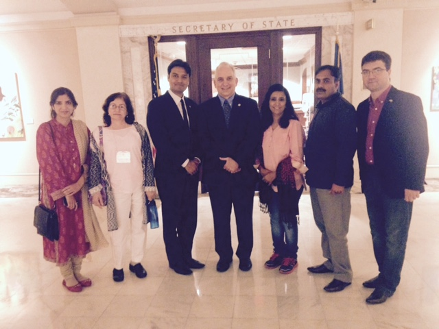 The Secretary of State's office recently welcomed a delegation from Pakistan that was here to learn about Oklahoma and its government.